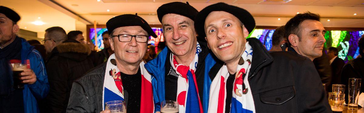 La cantine des supporters : France v Italie